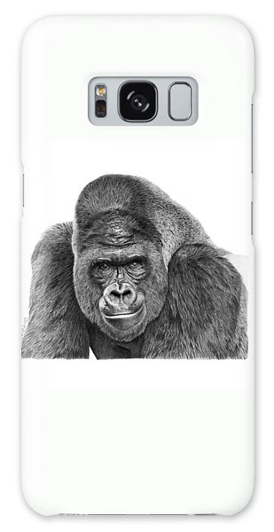 042 - Gomer The Silverback Gorilla Galaxy Case by Abbey Noelle