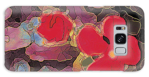 044 Cosmic Impatiens 6 With Blue Galaxy Case