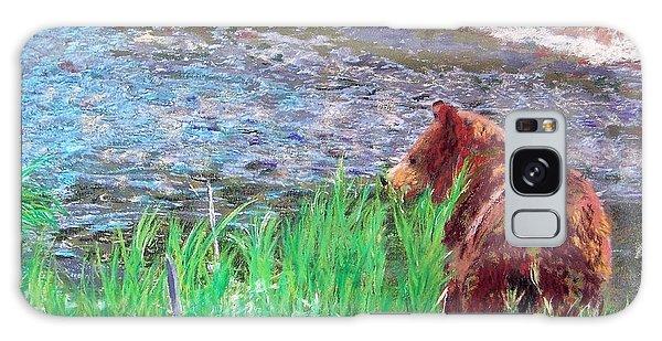 082714 Black Bear Pastel Galaxy Case