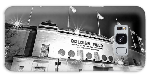 0879 Soldier Field Black And White Galaxy Case