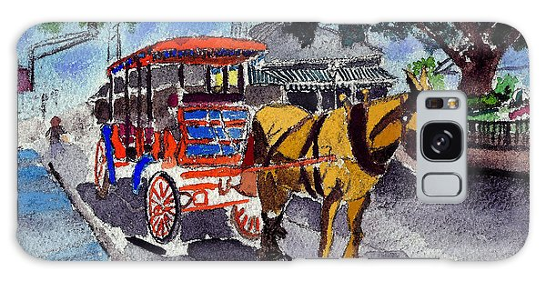 090514 New Orleans Carriages Watercolor Galaxy Case by Garland Oldham