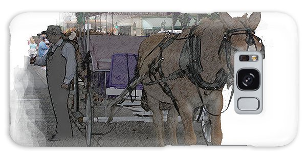 091614 Color Pencil Mule And Carriage Galaxy Case by Garland Oldham