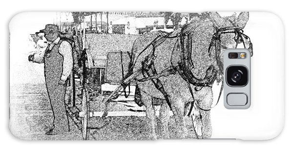 091614 Pen Drawing Carriages French Quarter Galaxy Case by Garland Oldham
