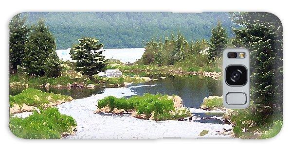 092014 Water Color Alaskan Wilderness Galaxy Case