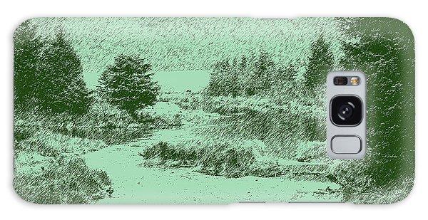 092214 Digital Pen Drawing Alaska Galaxy Case