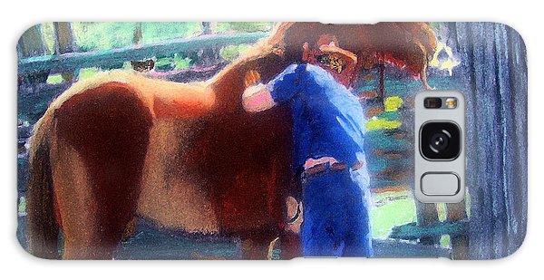 092814 Louisiana Cow Boy Galaxy Case