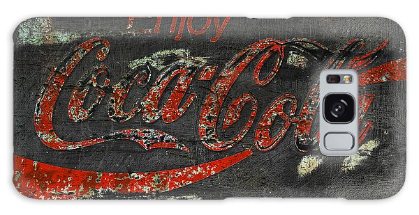 Coca Cola Sign Grungy  Galaxy Case by John Stephens