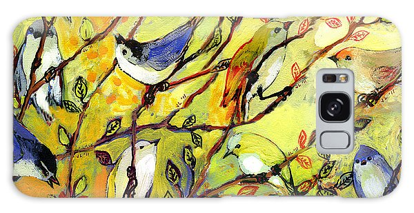 Bluebird Galaxy Case - 16 Birds by Jennifer Lommers
