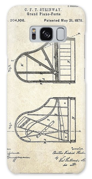 1878 Steinway Grand Piano Forte Patent Art S. 1 Galaxy Case