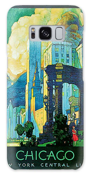 1929 Chicago - Vintage Travel Art Galaxy Case by Presented By American Classic Art