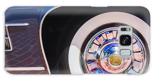 Galaxy Case featuring the photograph 1962 Ghia L6.5 Coupe Wheel Emblem by Jill Reger