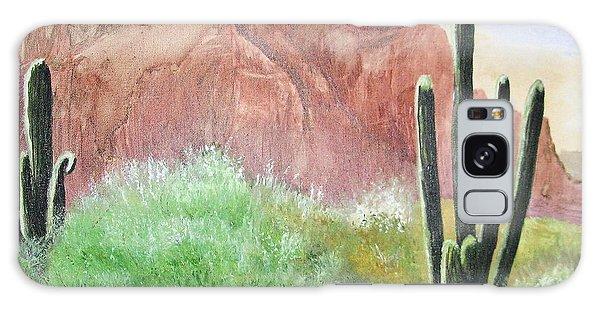 2 Saguaros Galaxy Case