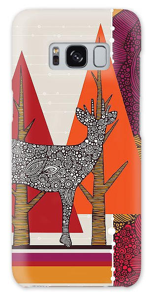 Deer Galaxy S8 Case - A Deer In Woodland by Valentina Ramos