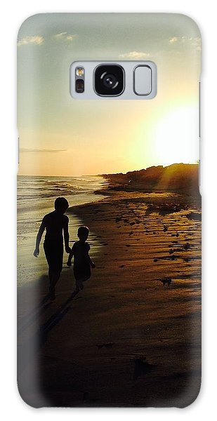 A Walk On The Beach Galaxy Case