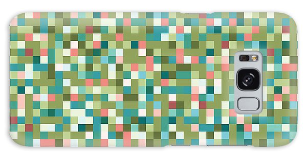 Abstract Pixels Galaxy Case by Mike Taylor