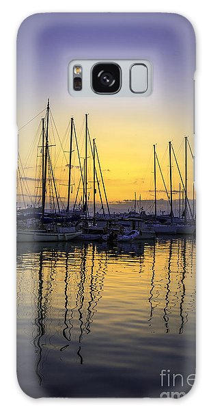 Aegina Harbour Sunset Galaxy Case