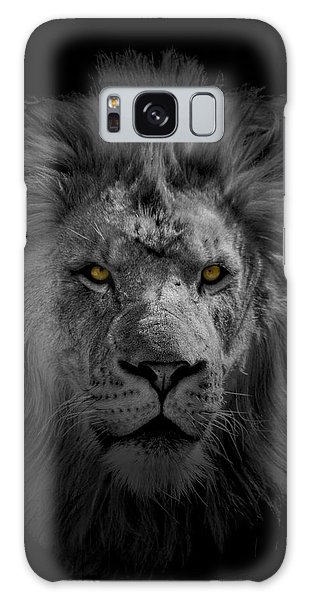 African Lion Galaxy Case by Peter Lakomy