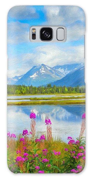Alaskan Horizons Oil Painting Galaxy Case