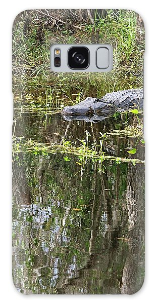 Alligator In Swamp Galaxy Case