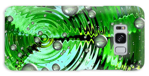 Amazing. Abstract Art. Green Grey  Blue Yellow  Galaxy Case