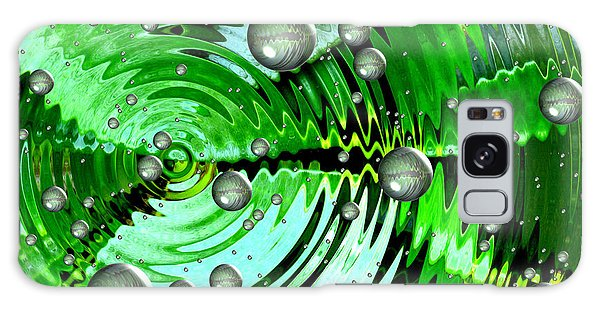 Amazing. Abstract Art. Green Grey  Blue Yellow  Galaxy Case