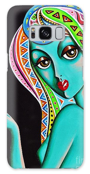 Amitty Groovy Chick Series Detail Galaxy Case by Joseph Sonday