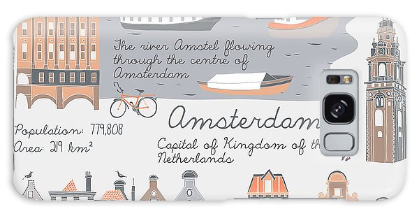 Reflections Galaxy Case - Amsterdam, Print Design by Lavandaart