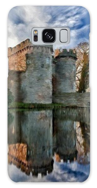 Ancient Whittington Castle In Shropshire England Galaxy Case