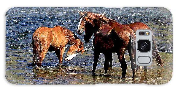Arizona Wild Horses On The Salt River Galaxy Case