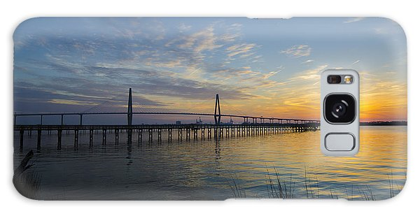 Sunset Over The Charleston Waters Galaxy Case by Dale Powell