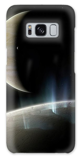 Chasm Galaxy Case - Artwork Of Ice Geysers On Europa by Mark Garlick/science Photo Library