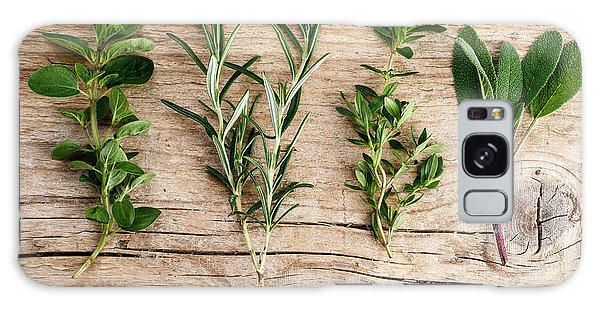 Herbs Galaxy Case - Assorted Fresh Herbs by Nailia Schwarz