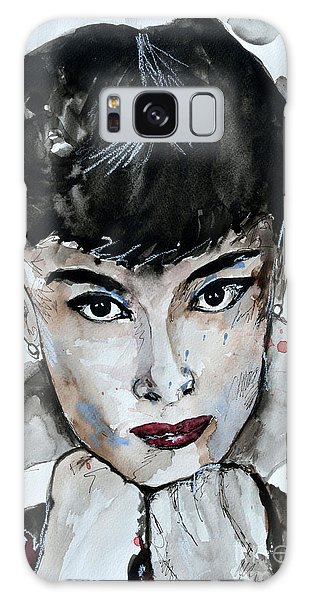 Audrey Hepburn - Abstract Art Galaxy Case