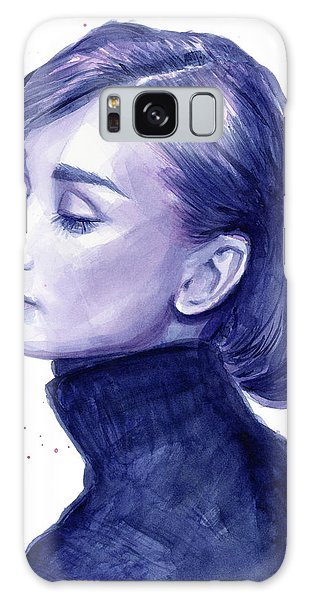 Celebrities Galaxy Case - Audrey Hepburn Portrait by Olga Shvartsur