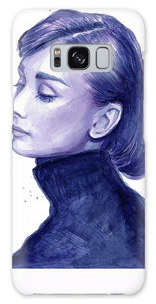 Celebrity Galaxy Case - Audrey Hepburn Portrait by Olga Shvartsur