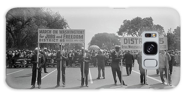 March On Washington Galaxy Case - August 28, 1963 - Marchers Carrying by Stocktrek Images