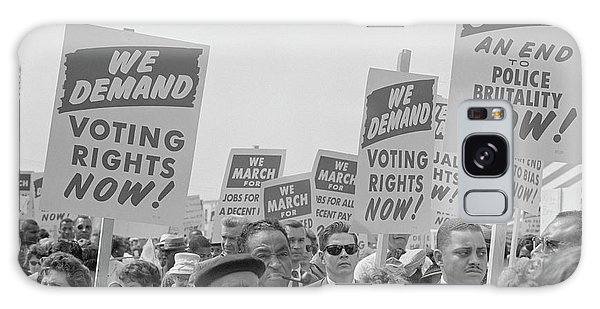March On Washington Galaxy Case - August 28, 1963 - Marchers With Signs by Stocktrek Images