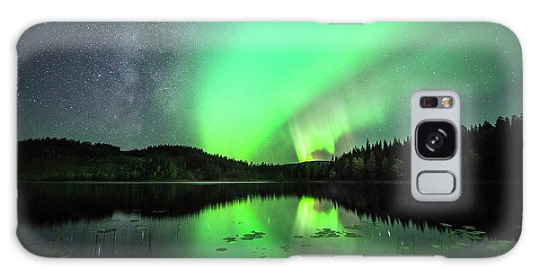 Boreal Forest Galaxy Case - Aurora Borealis And The Milky Way by Tommy Eliassen/science Photo Library