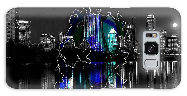 Austin Texas Map And Skyline Watercolor Galaxy Case