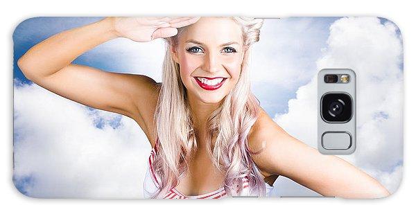 Vivacious Galaxy Case - Australian Navy Girl Saluting Australia Day by Jorgo Photography - Wall Art Gallery