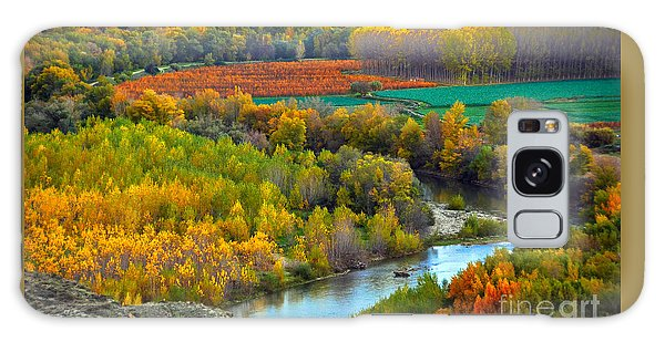 Autumn Colors On The Ebro River Galaxy Case