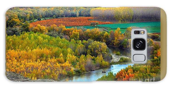 Autumn Colors On The Ebro River Galaxy Case
