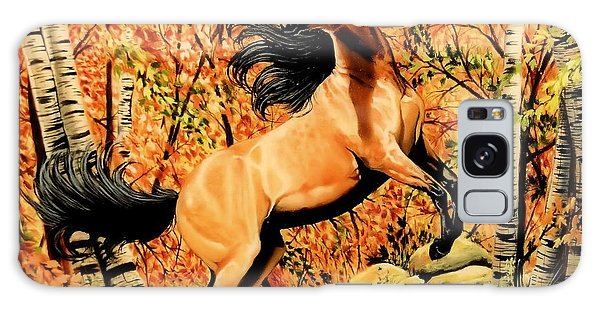 Autumn Frolick Galaxy Case by Cheryl Poland