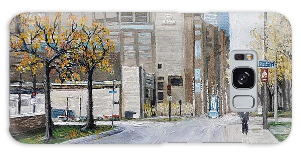 Autumn In The City Galaxy Case by Reb Frost