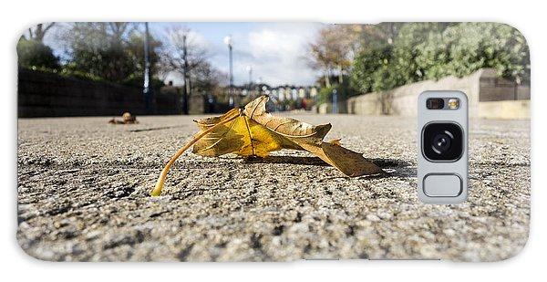 Autumn Leaf On Pathway Galaxy Case