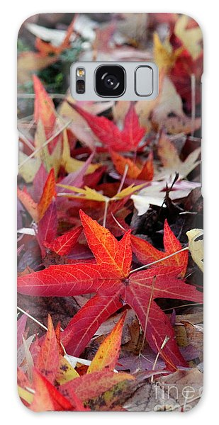 Autumn Leaves Galaxy Case by Erica Hanel