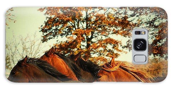 Autumn Wild Horses Galaxy Case