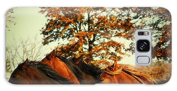 Autumn Wild Horses Galaxy Case