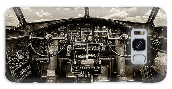 Pilot Galaxy Case - Cockpit Of A B-17 by Mike Burgquist