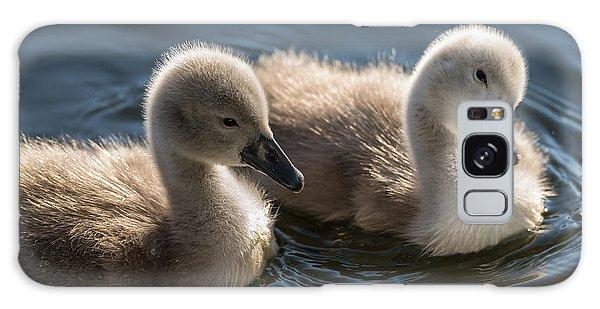 Baby Swans Galaxy Case by Michael Mogensen